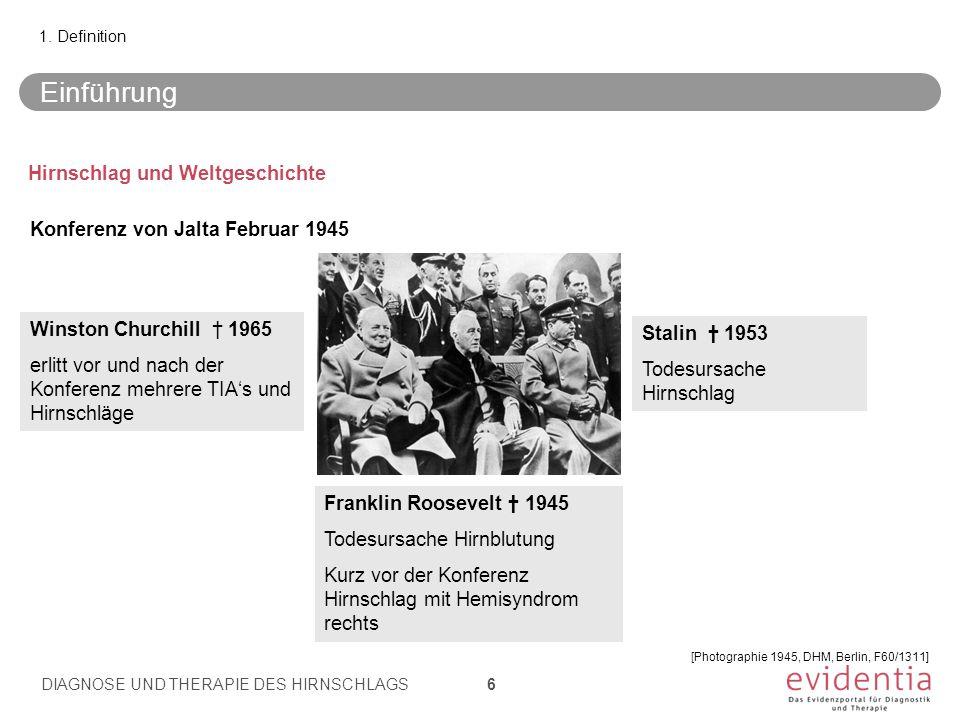 Einführung Hirnschlag und Weltgeschichte