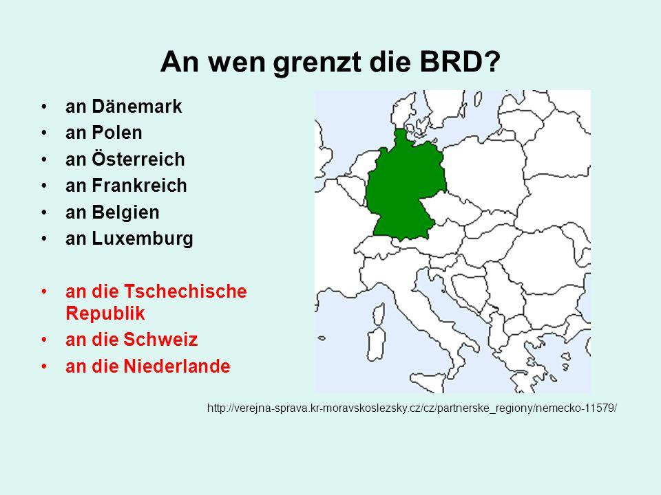 An wen grenzt die BRD an Dänemark an Polen an Österreich