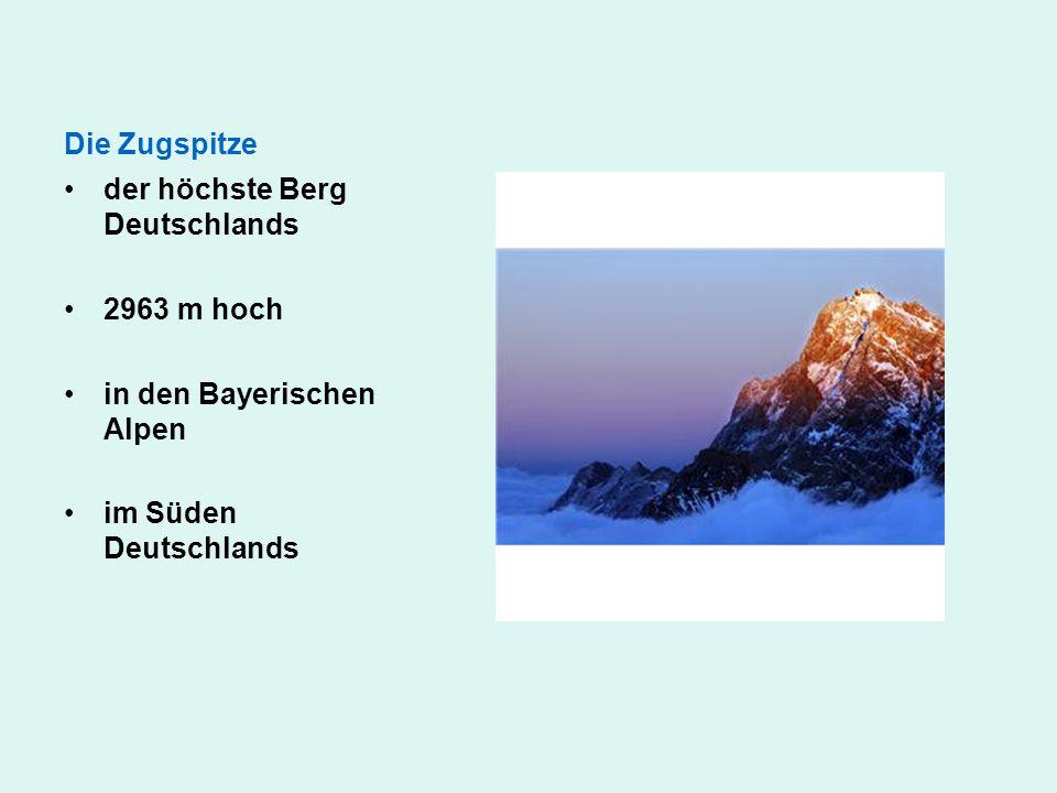 Die Zugspitze der höchste Berg Deutschlands. 2963 m hoch.