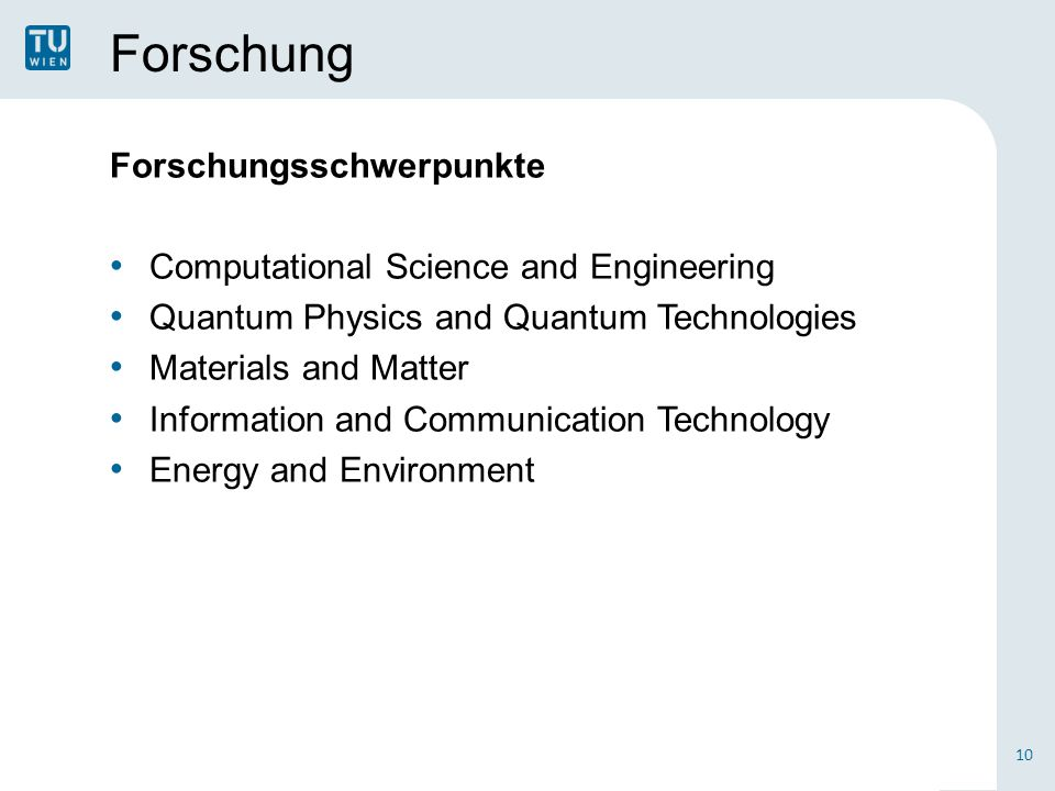 Forschung Forschungsschwerpunkte Computational Science and Engineering