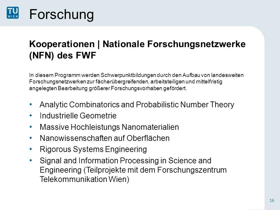 Forschung Kooperationen | Nationale Forschungsnetzwerke (NFN) des FWF