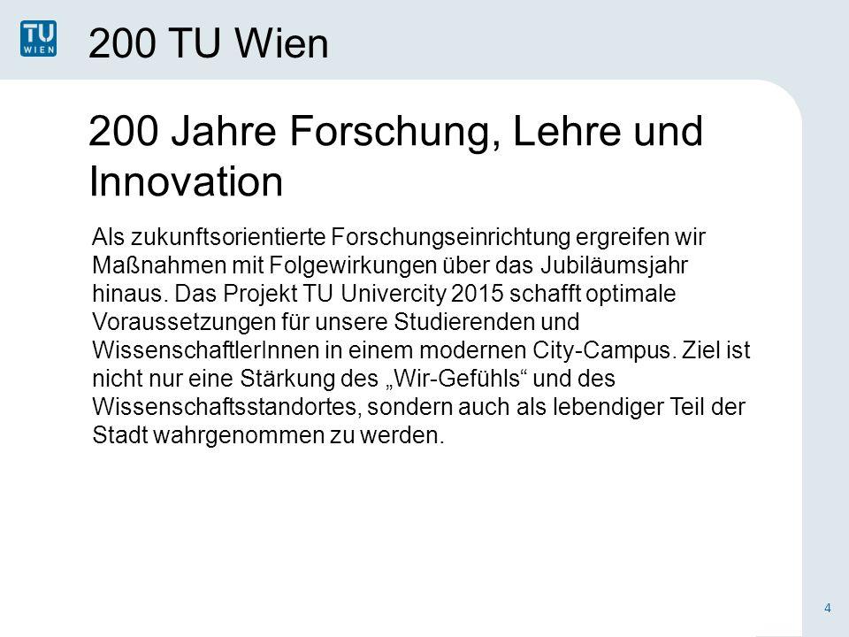 200 Jahre Forschung, Lehre und Innovation