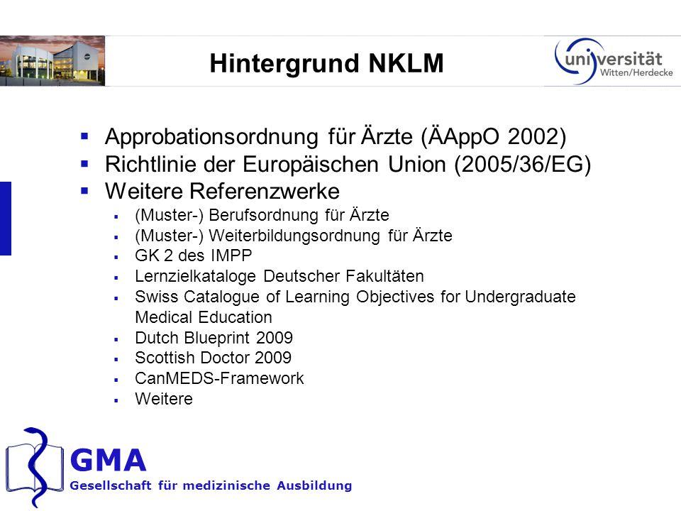 Hintergrund NKLM Approbationsordnung für Ärzte (ÄAppO 2002)