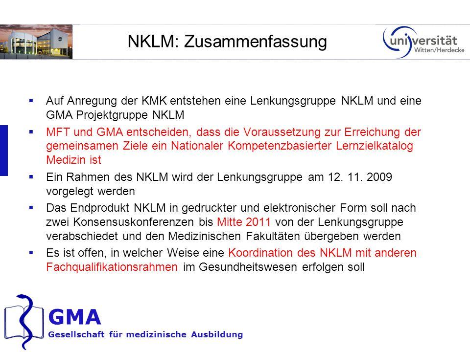 NKLM: Zusammenfassung