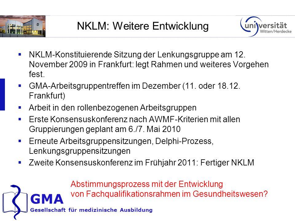NKLM: Weitere Entwicklung
