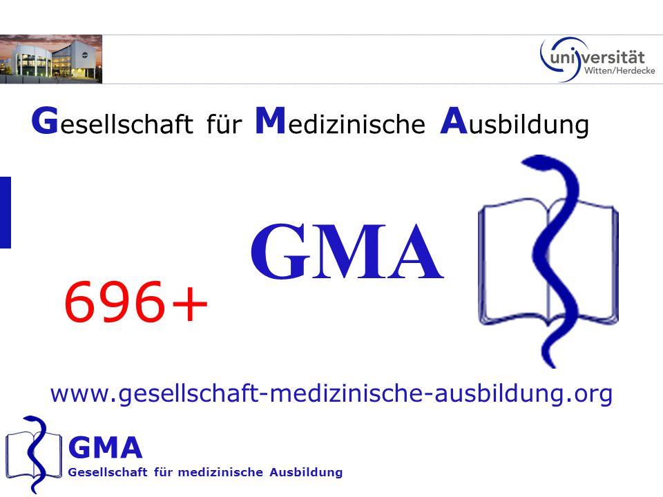 GMA 696+ Gesellschaft für Medizinische Ausbildung