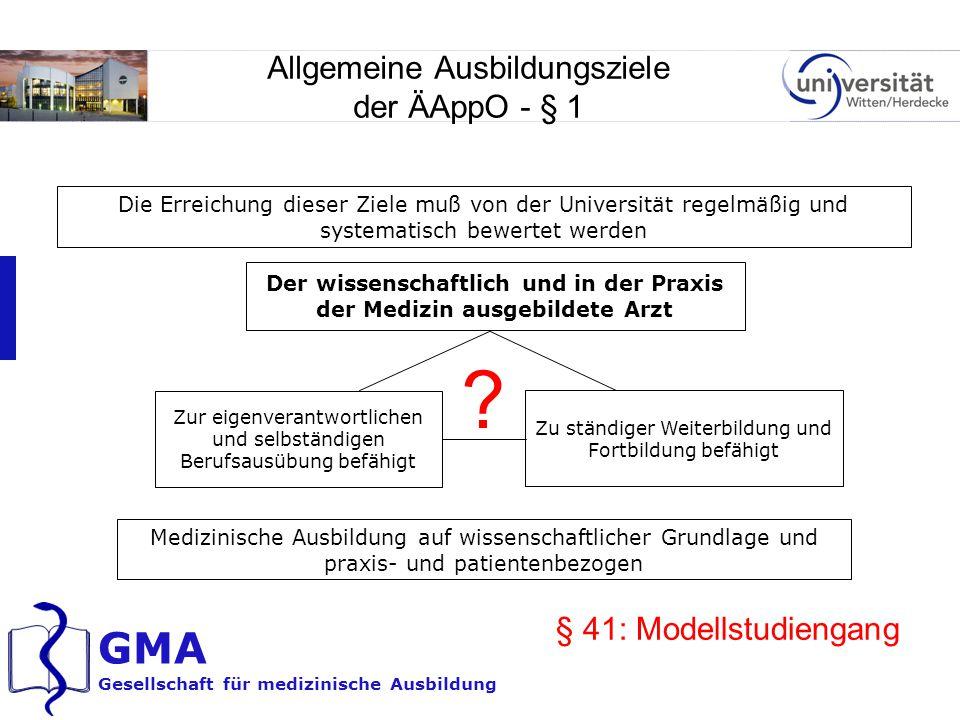 Allgemeine Ausbildungsziele der ÄAppO - § 1
