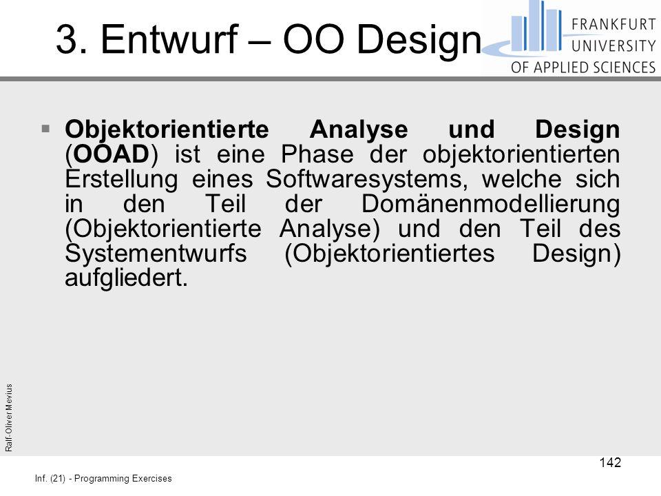 3. Entwurf – OO Design