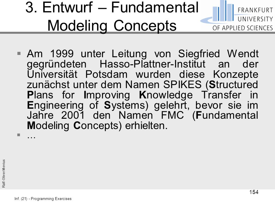3. Entwurf – Fundamental Modeling Concepts