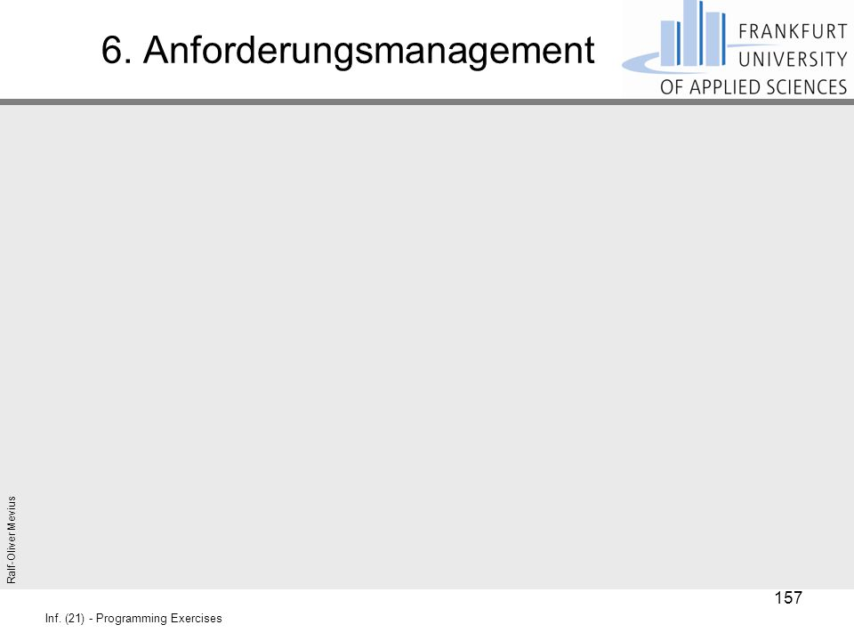 6. Anforderungsmanagement