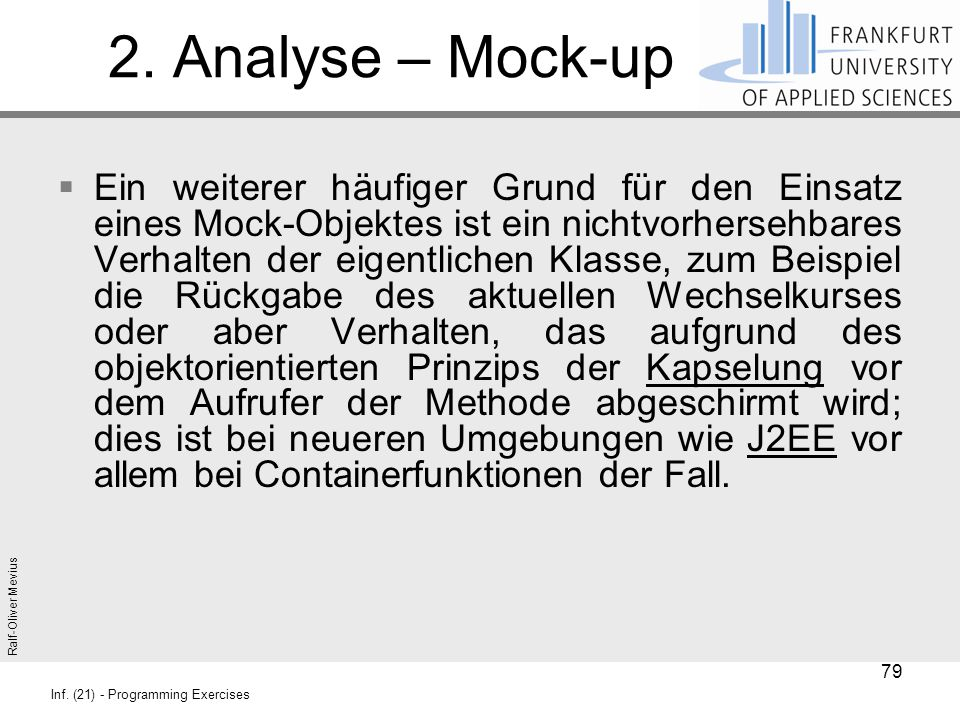 2. Analyse – Mock-up