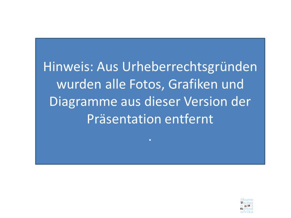 Hinweis: Aus Urheberrechtsgründen wurden alle Fotos, Grafiken und Diagramme aus dieser Version der Präsentation entfernt