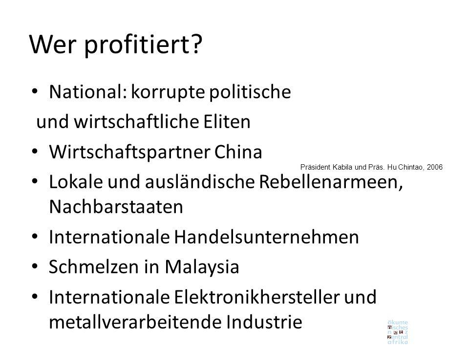 Wer profitiert National: korrupte politische