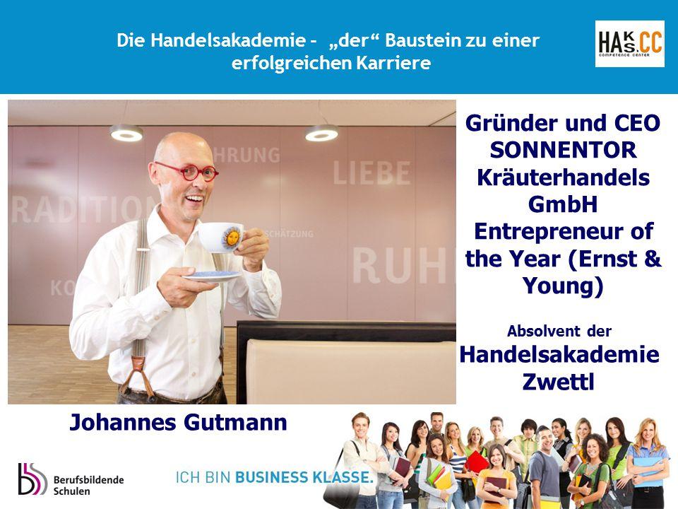 Gründer und CEO SONNENTOR Kräuterhandels GmbH