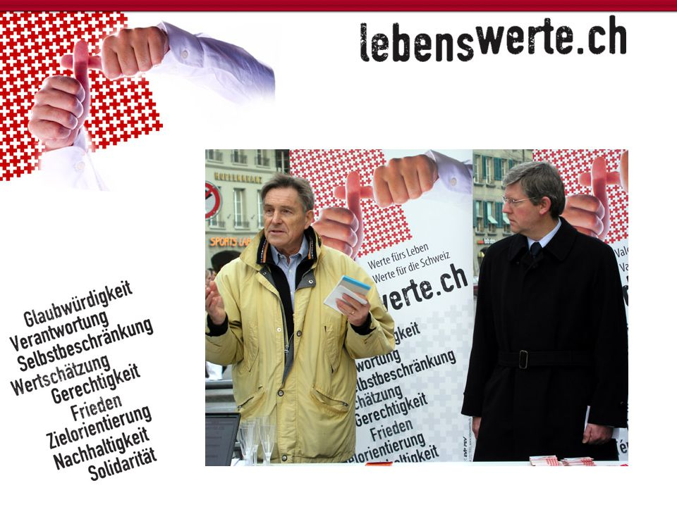 "Kampagne ""lebenswerte.ch"