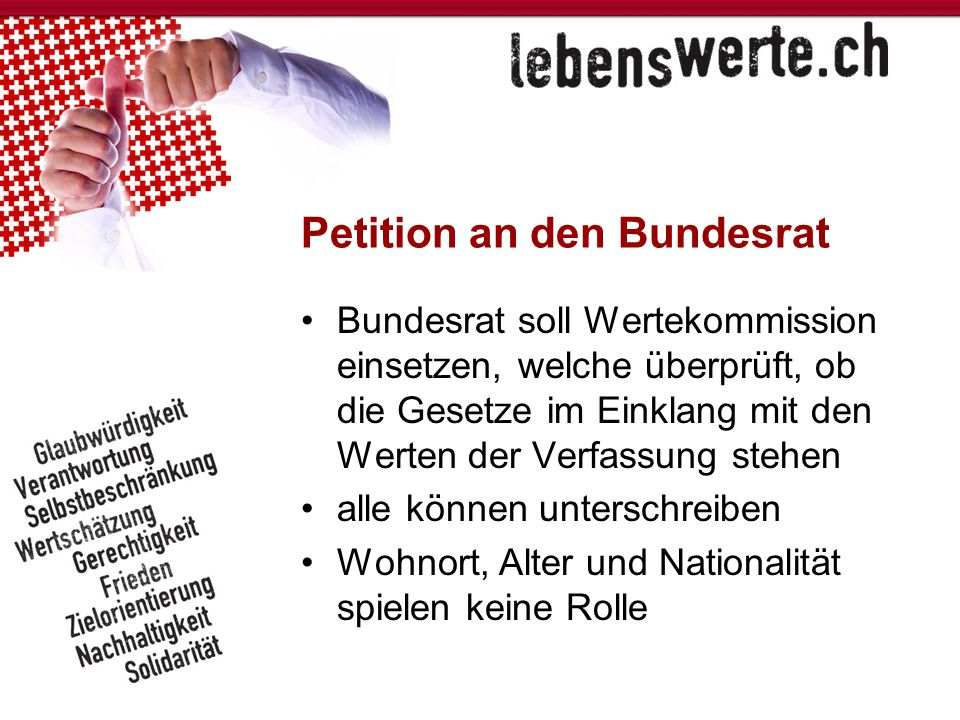 Petition an den Bundesrat