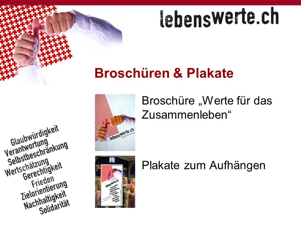 """Broschüren & Plakate Broschüre """"Werte für das Zusammenleben"""
