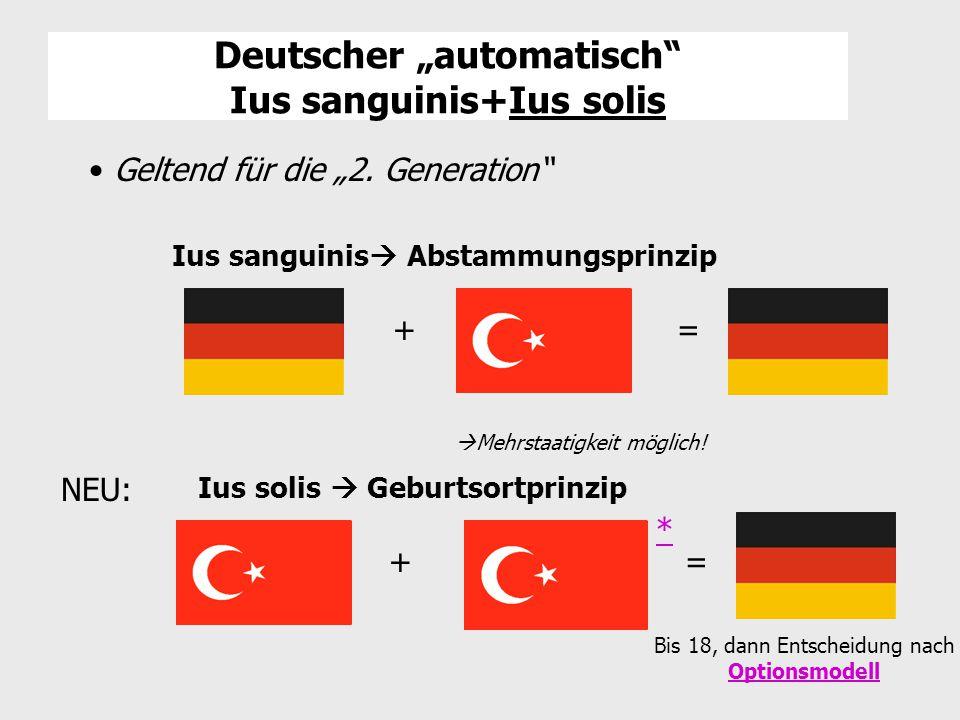 """Deutscher """"automatisch Ius sanguinis+Ius solis"""