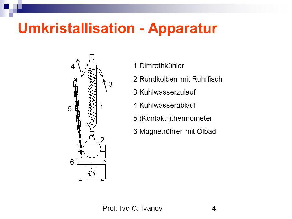 Umkristallisation - Apparatur