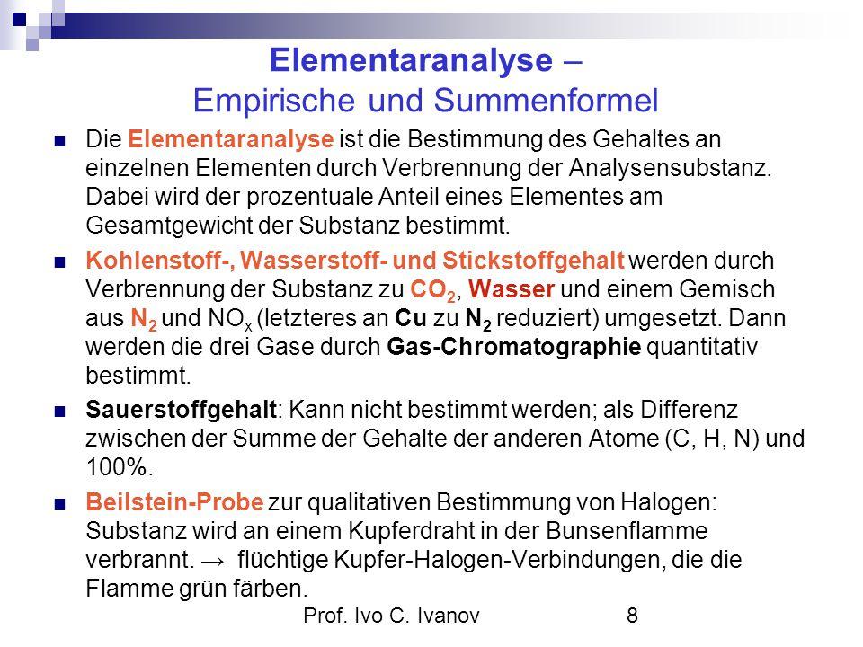 Elementaranalyse – Empirische und Summenformel