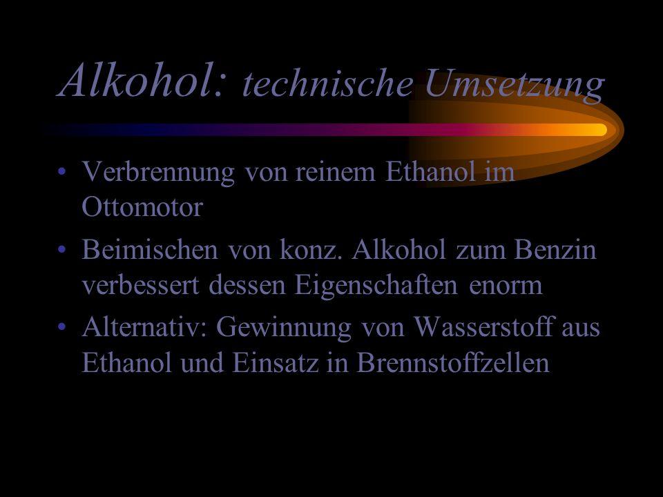Alkohol: technische Umsetzung