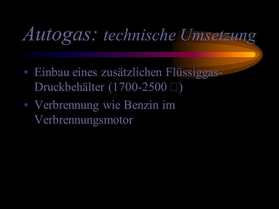 Autogas: technische Umsetzung