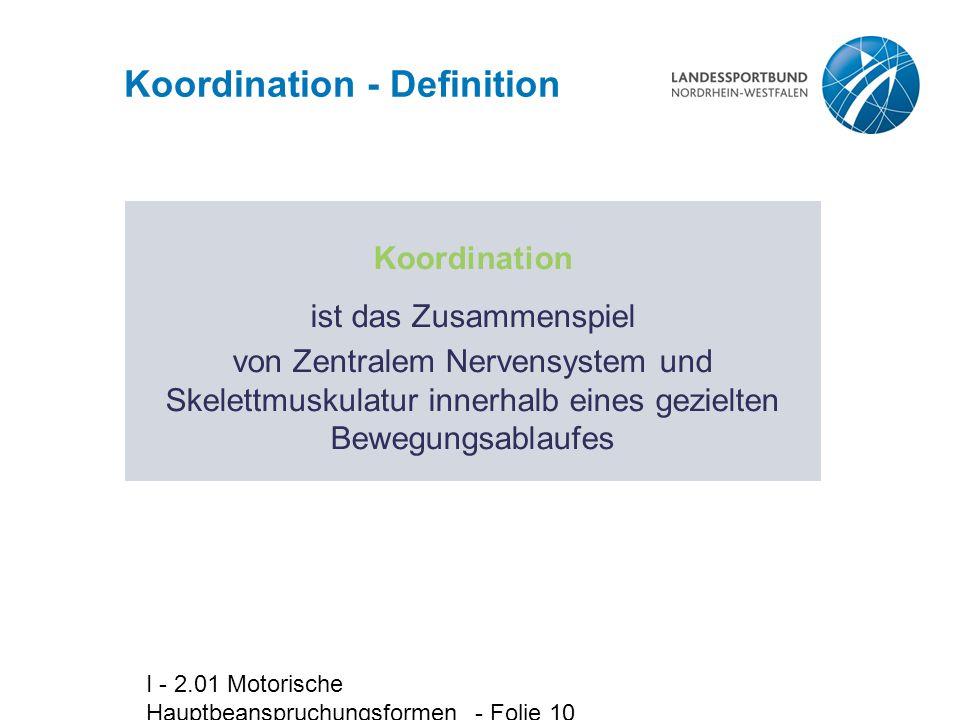 Koordination - Definition