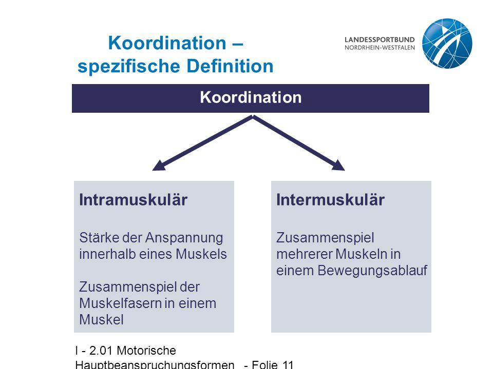 Koordination – spezifische Definition