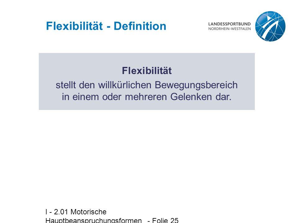Flexibilität - Definition