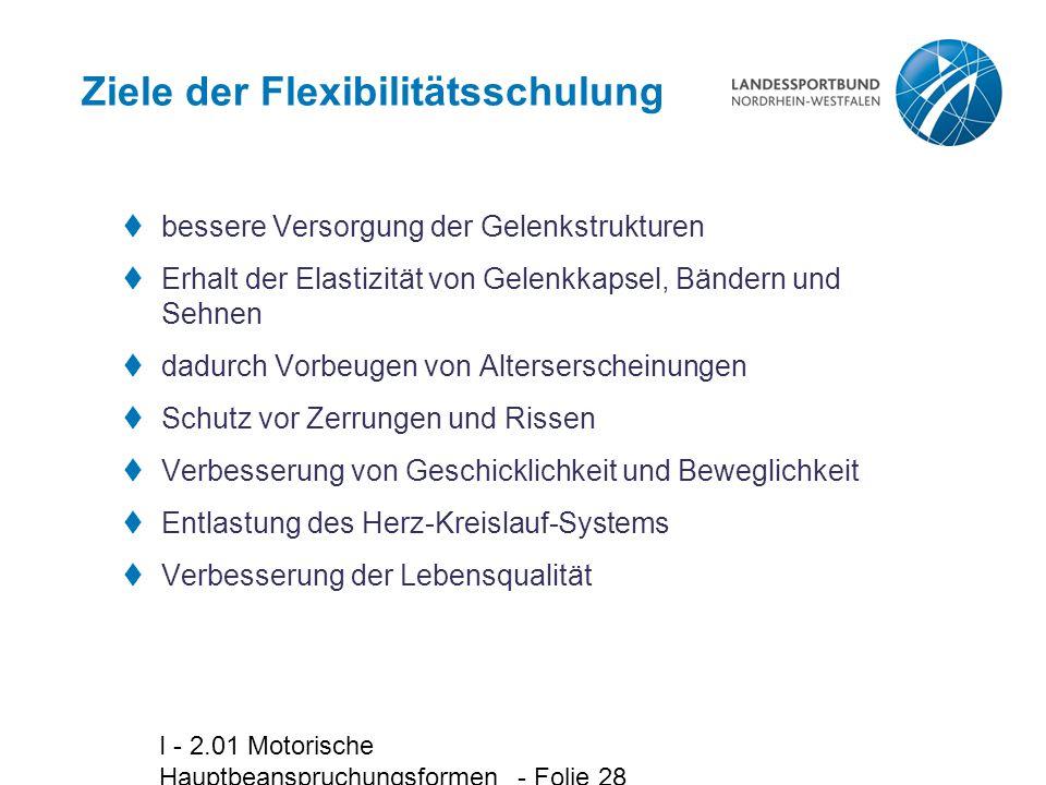 Ziele der Flexibilitätsschulung