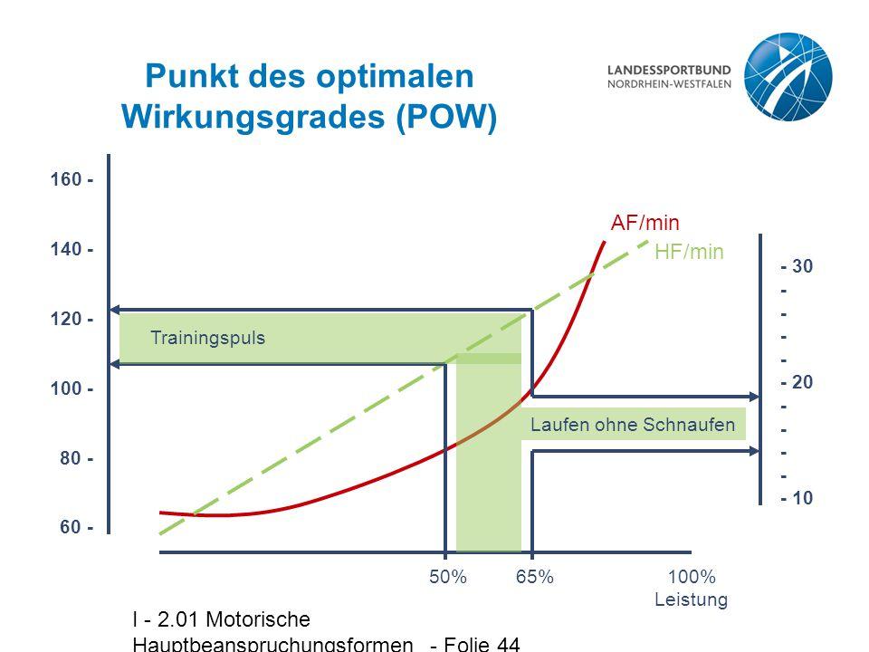 Punkt des optimalen Wirkungsgrades (POW)