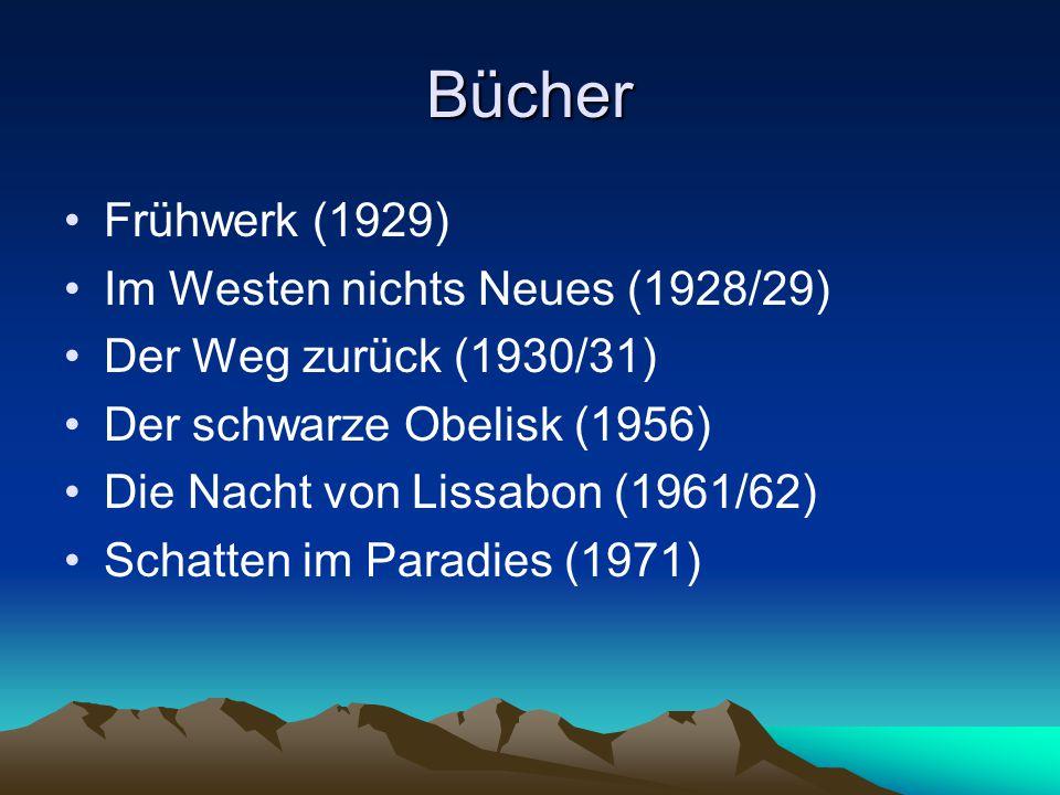 Bücher Frühwerk (1929) Im Westen nichts Neues (1928/29)