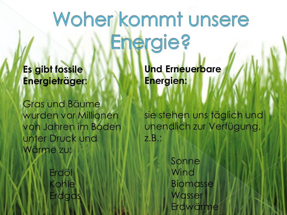 Woher kommt unsere Energie