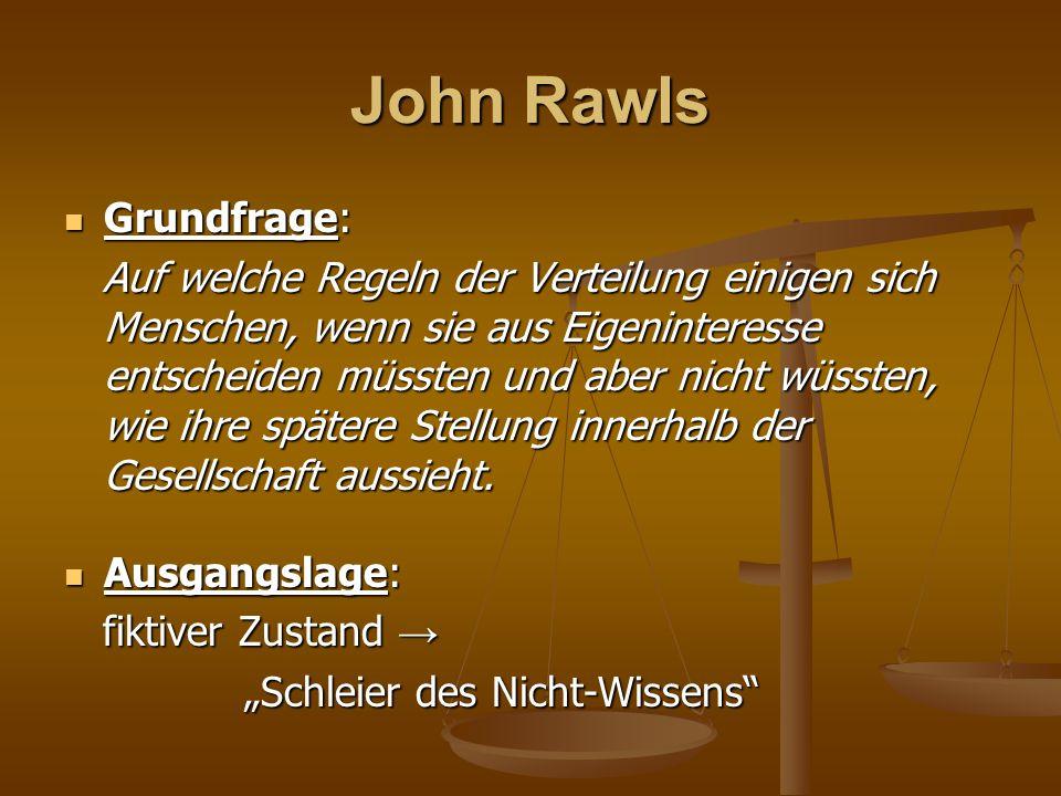 John Rawls Grundfrage: