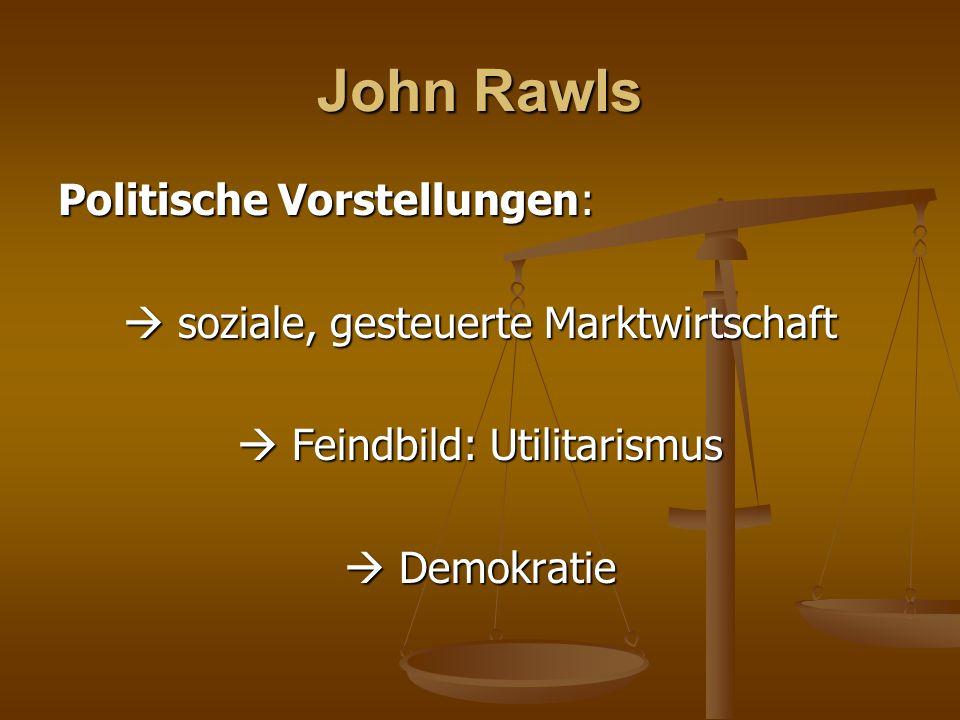 John Rawls Politische Vorstellungen: