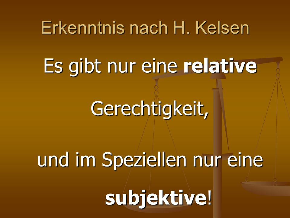 Erkenntnis nach H. Kelsen