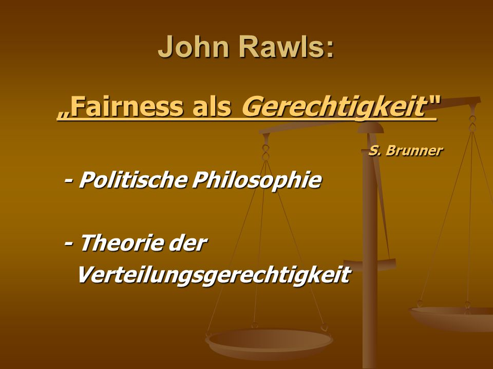 """""""Fairness als Gerechtigkeit"""