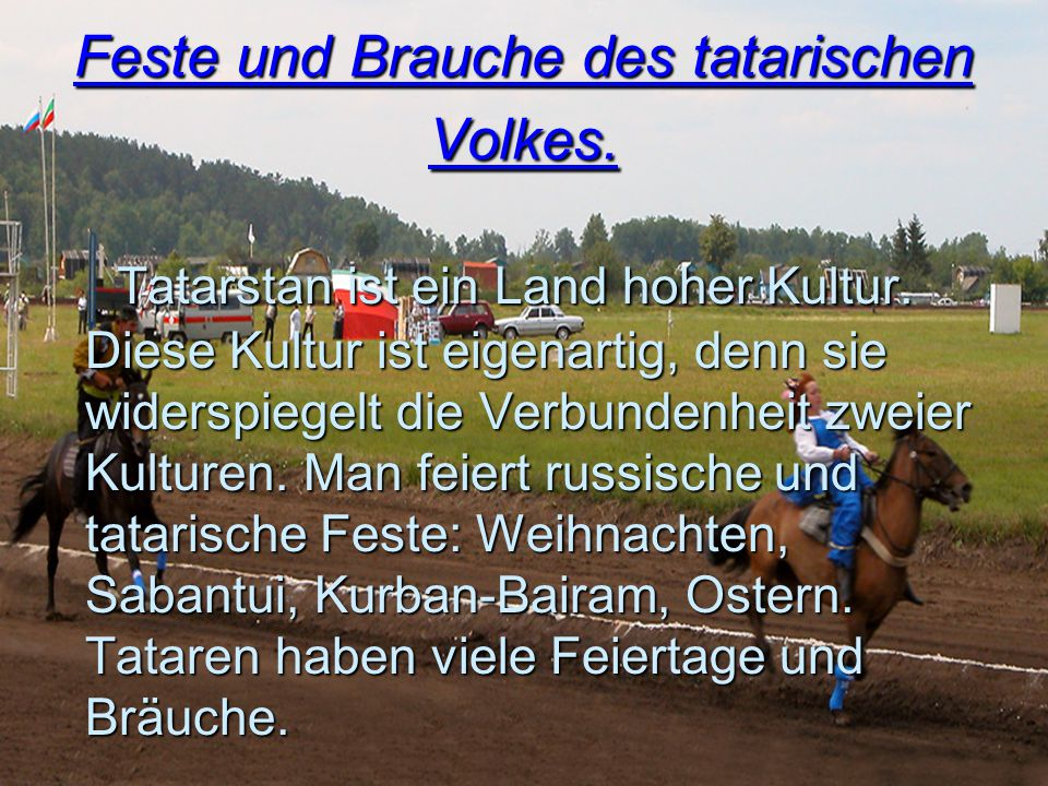 Feste und Brauche des tatarischen Volkes.