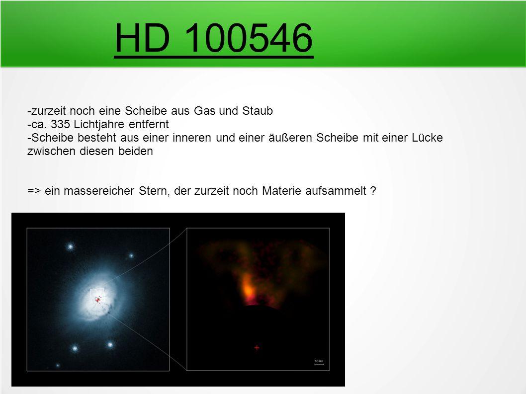 HD 100546 -zurzeit noch eine Scheibe aus Gas und Staub