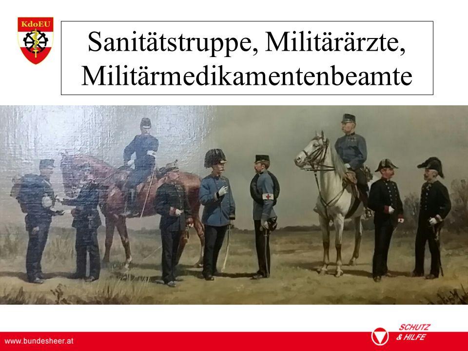 Sanitätstruppe, Militärärzte, Militärmedikamentenbeamte