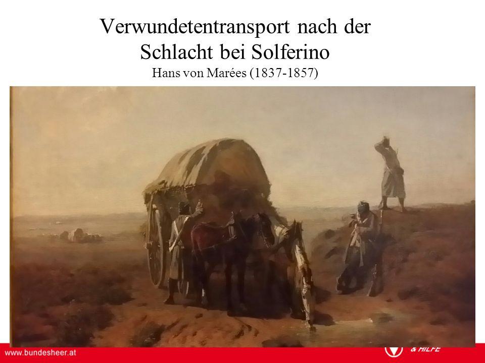 Verwundetentransport nach der Schlacht bei Solferino Hans von Marées (1837-1857)