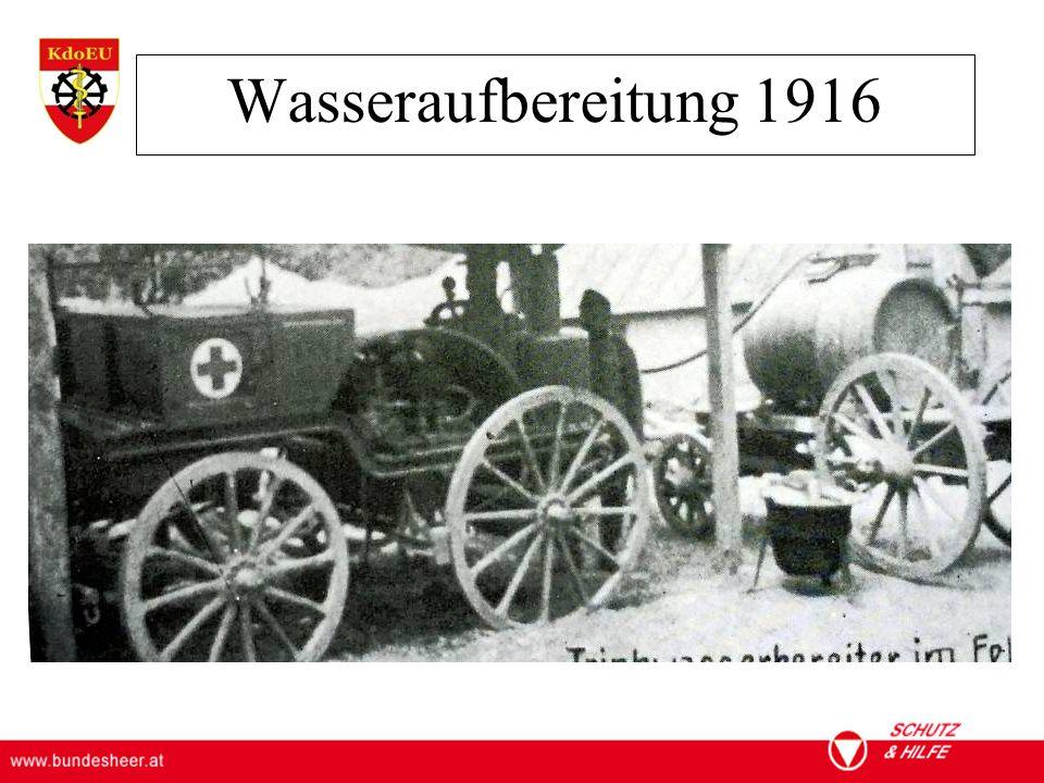 Wasseraufbereitung 1916