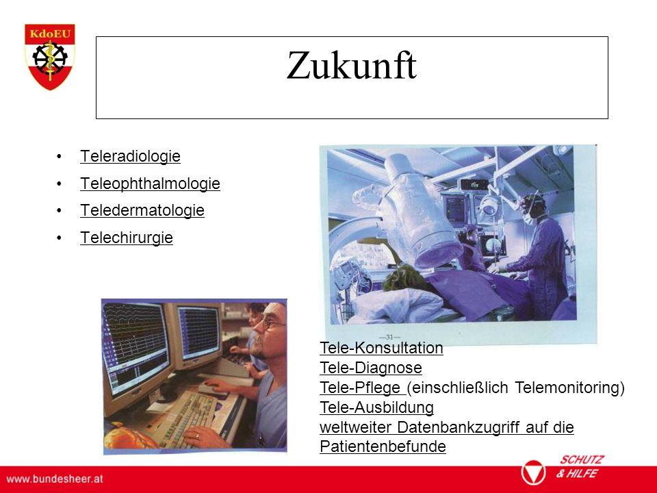Zukunft Teleradiologie Teleophthalmologie Teledermatologie
