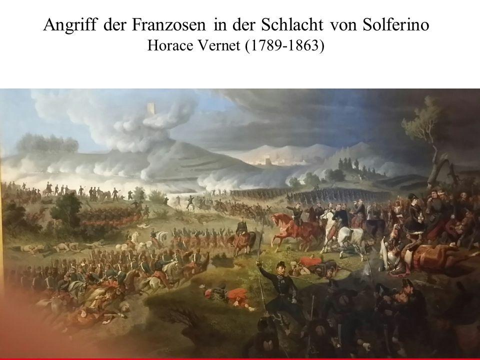 Angriff der Franzosen in der Schlacht von Solferino Horace Vernet (1789-1863)