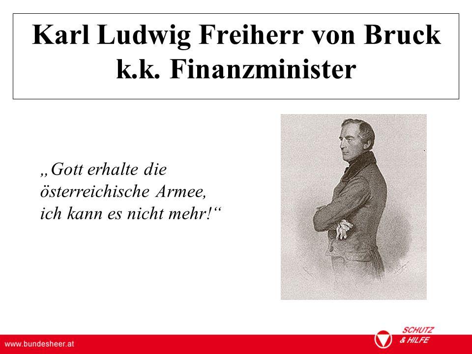 Karl Ludwig Freiherr von Bruck k.k. Finanzminister