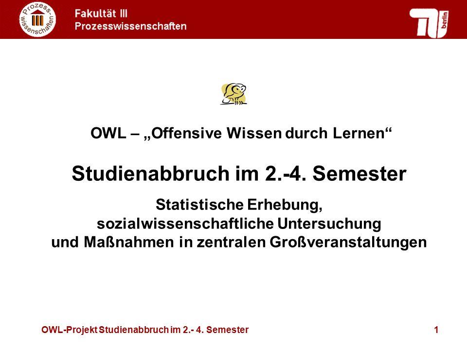 Studienabbruch im 2.-4. Semester