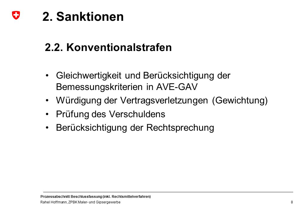 2. Sanktionen 2.2. Konventionalstrafen