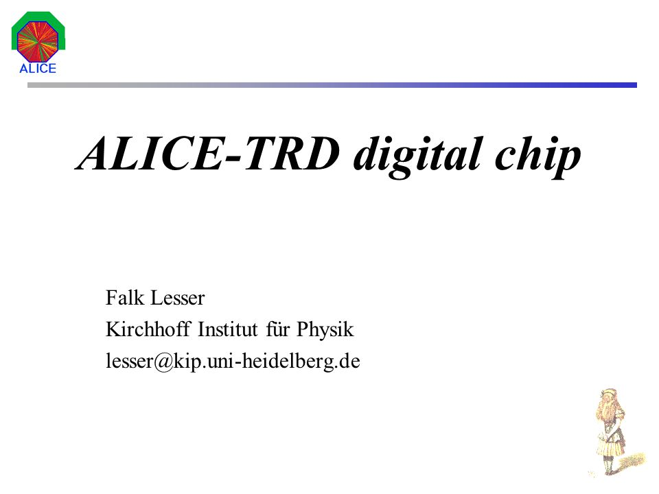 ALICE-TRD digital chip
