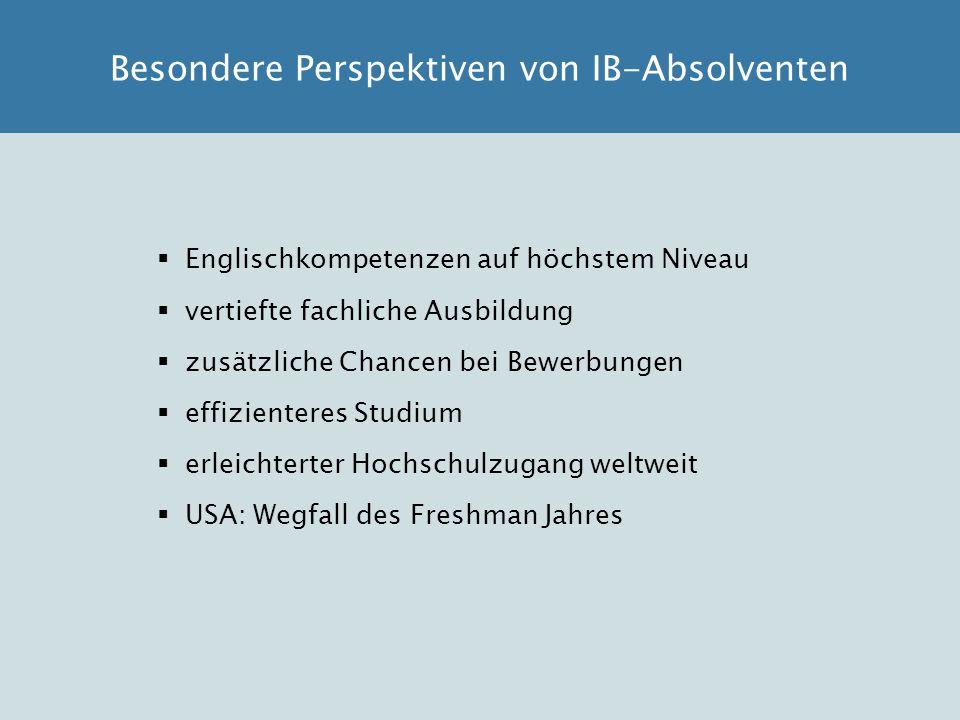 Besondere Perspektiven von IB-Absolventen