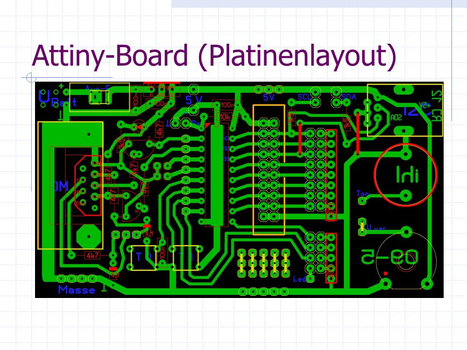 Attiny-Board (Platinenlayout)